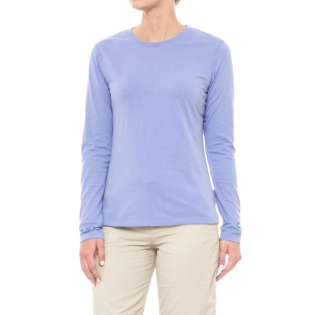 White Sierra Insect Shield® Bug Free Swamp Crew - UPF 30+, Long Sleeve (For Women) in Light Iris