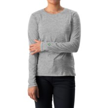 White Sierra Insect Shield® Bug Free T-Shirt - UPF 30+, Long Sleeve (For Women) in Heather Grey - Closeouts