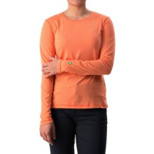 White Sierra Insect Shield® Bug Free T-Shirt - UPF 30+, Long Sleeve (For Women) in Melon - Closeouts