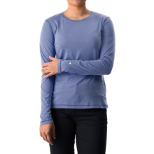 White Sierra Insect Shield® Bug Free T-Shirt - UPF 30+, Long Sleeve (For Women) in Periblue - Closeouts