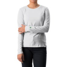 White Sierra Insect Shield® Bug Free T-Shirt - UPF 30+, Long Sleeve (For Women) in White - Closeouts