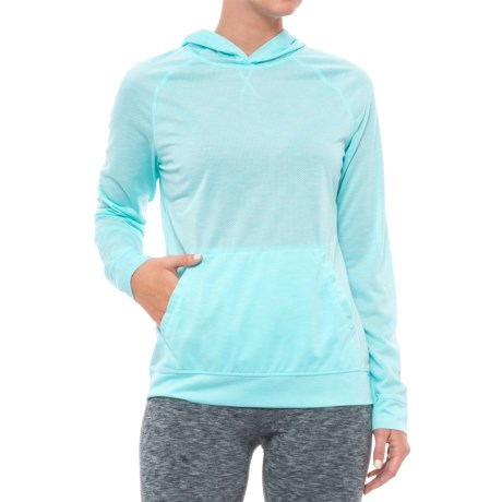 White Sierra Insect Shield® Free Trail Hoodie Shirt - Long Sleeve (For Women) in Aqua
