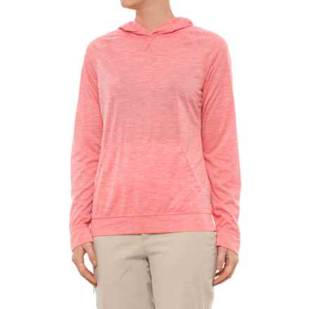 White Sierra Insect Shield® Free Trail Hoodie Shirt - Long Sleeve (For Women) in Watermelon - Closeouts