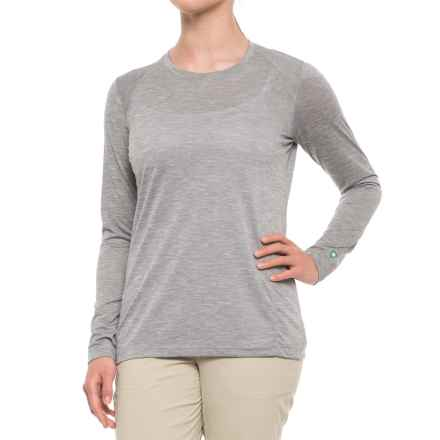 White Sierra Insect Shield® Marsh T-Shirt - Long Sleeve (For Women) in Heather Grey - Closeouts