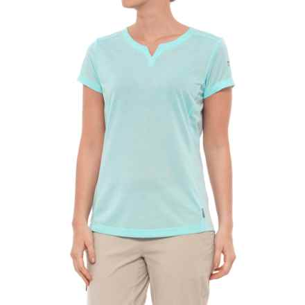 White Sierra Insect Shield® Trail T-Shirt - Short Sleeve (For Women) in Aqua - Closeouts