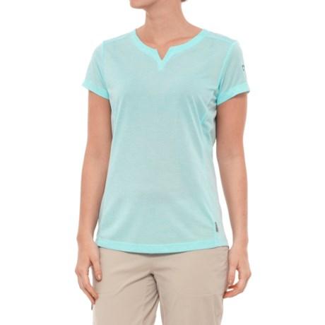 White Sierra Insect Shield® Trail T-Shirt - Short Sleeve (For Women) in Aqua