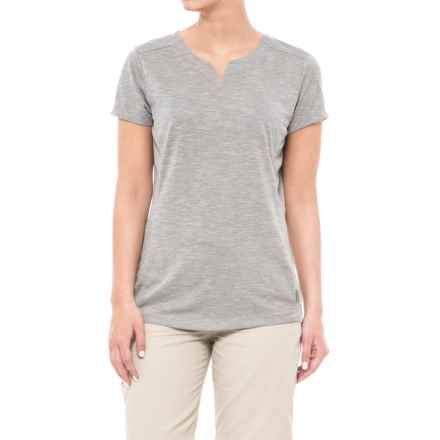 White Sierra Insect Shield® Trail T-Shirt - Short Sleeve (For Women) in Heather Grey - Closeouts