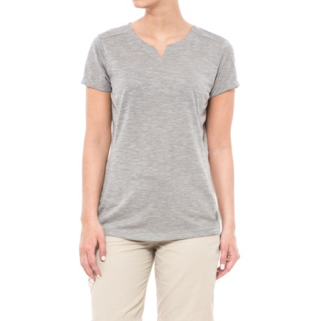 White Sierra Insect Shield® Trail T-Shirt - Short Sleeve (For Women) in Heather Grey