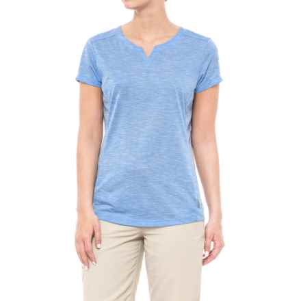 White Sierra Insect Shield® Trail T-Shirt - Short Sleeve (For Women) in Provence Blue - Closeouts