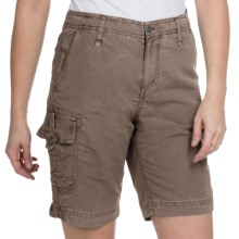 White Sierra Island Hopper Shorts - UPF 30 (For Women) in Bark - Closeouts