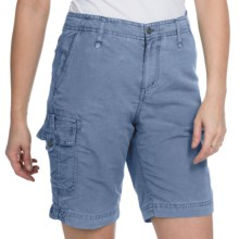 White Sierra Island Hopper Shorts - UPF 30 (For Women) in Blue Steel - Closeouts