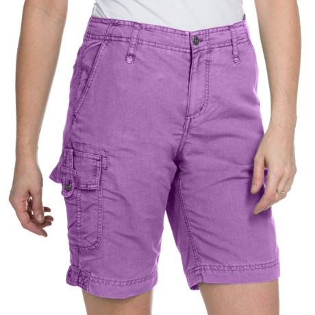 White Sierra Island Hopper Shorts - UPF 30 (For Women) in Purple Wine