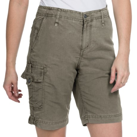 White Sierra Island Hopper Shorts - UPF 30 (For Women) in Bark