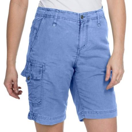 White Sierra Island Hopper Shorts - UPF 30 (For Women) in Vintage Indigo
