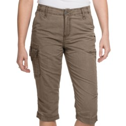White Sierra Island Hopper Skimmer Shorts - UPF 30 (For Women) in Bark