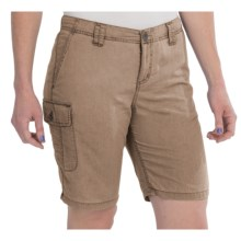 White Sierra Island II Shorts - UPF 30, Quick-Dry Nylon (For Women) in Bark - Closeouts