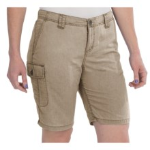 White Sierra Island II Shorts - UPF 30, Quick-Dry Nylon (For Women) in Stone - Closeouts