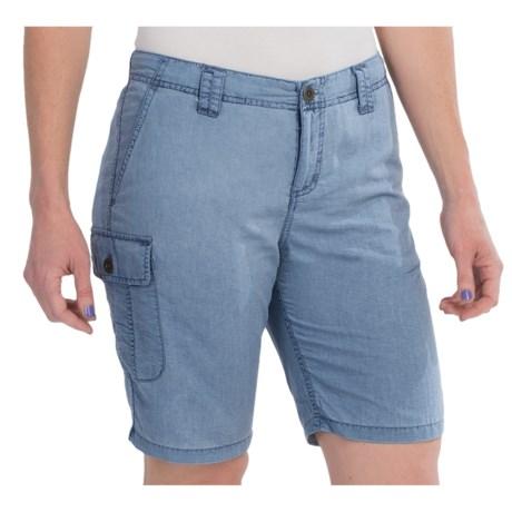 White Sierra Island II Shorts UPF 30, Quick Dry Nylon (For Women)