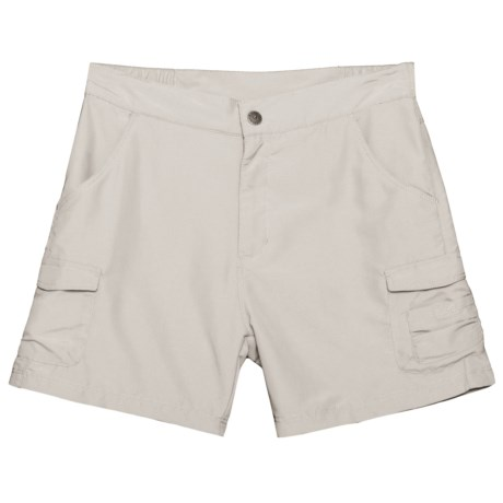 White Sierra Jr. Crystal Cove River Shorts - UPF 30 (For Little and Big Girls) in Pale Taupe