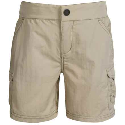 White Sierra Jr. Crystal Cove River Shorts - UPF 30 (For Little and Big Girls) in Stone - Closeouts