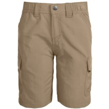 White Sierra Jr. Rocky Ridge Hiking Shorts - UPF 30 (For Little and Big Boys) in Khaki - Closeouts
