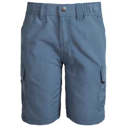 White Sierra Jr. Rocky Ridge Hiking Shorts - UPF 30 (For Little and Big Boys) in Vintage Indigo - Closeouts