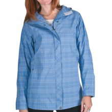 White Sierra Junket Rainwear Jacket - Waterproof, Long (For Women) in Riviera Plaid - Closeouts