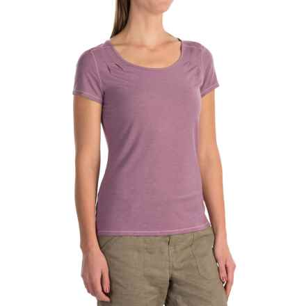 White Sierra Kalahari Shirt - Modal, Short Sleeve (For Women) in Grape - Closeouts