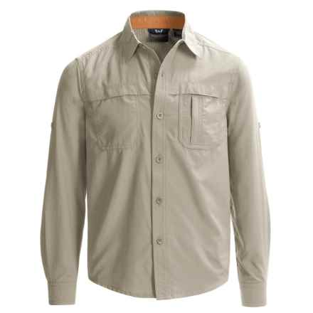 White Sierra Kalgoorlie Shirt - UPF 30, Long Sleeve (For Little and Big Boys) in Sand - Closeouts