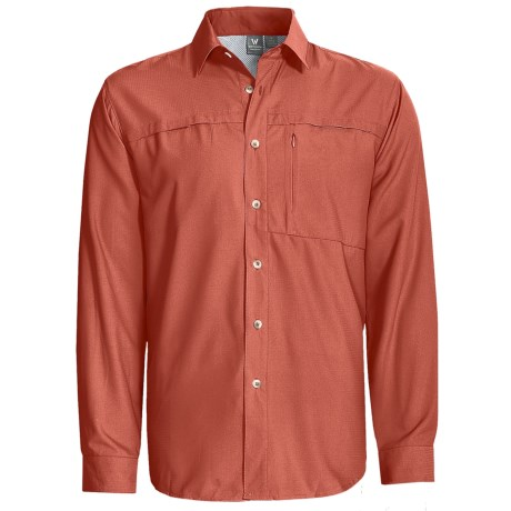 White Sierra Kalgoorlie Shirt - UPF 30, Long Sleeve (For Men) in Rust