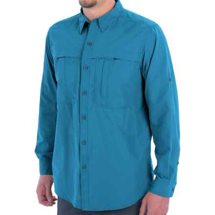 White Sierra Kalgoorlie Shirt - UPF 30, Long Sleeve (For Men) in Cendre Blue - Closeouts