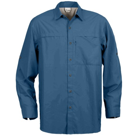 White Sierra Kalgoorlie Shirt - UPF 30, Long Sleeve (For Men) in Deep Water