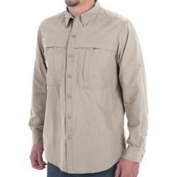 White Sierra Kalgoorlie Shirt - UPF 30, Long Sleeve (For Men) in Sand