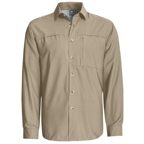White Sierra Kalgoorlie Shirt - UPF 30, Long Sleeve (For Men) in Stone