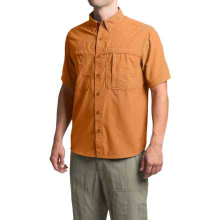 White Sierra Kalgoorlie Shirt - UPF 30, Short Sleeve (For Men) in Apricot - Closeouts
