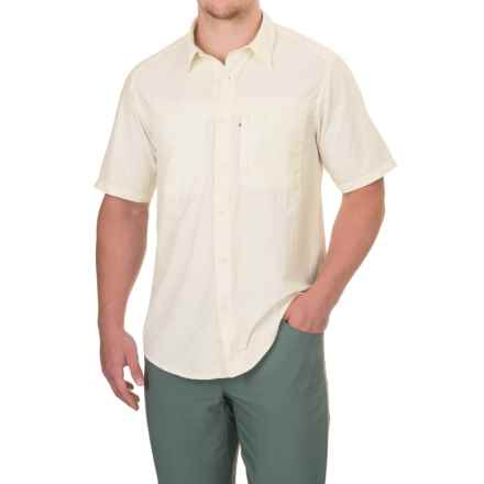 White Sierra Kalgoorlie Shirt - UPF 30, Short Sleeve (For Men) in Blanc De Blanc - Closeouts