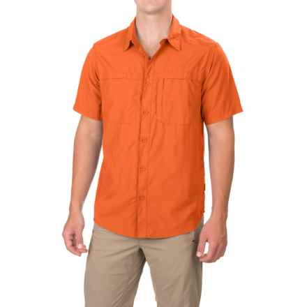 White Sierra Kalgoorlie Shirt - UPF 30, Short Sleeve (For Men) in Burnt Orange - Closeouts