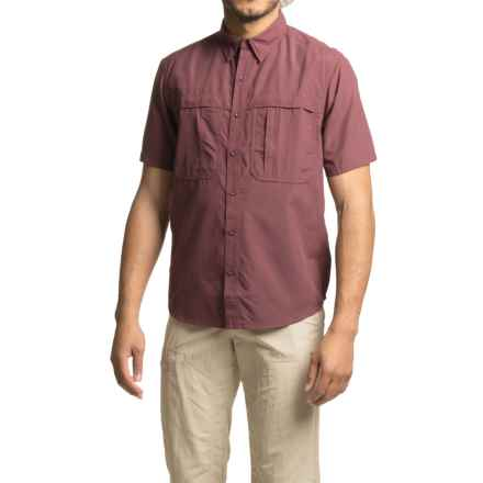 White Sierra Kalgoorlie Shirt - UPF 30, Short Sleeve (For Men) in Dark Grape - Closeouts