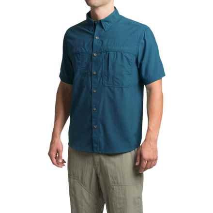 White Sierra Kalgoorlie Shirt - UPF 30, Short Sleeve (For Men) in Deep Water - Closeouts