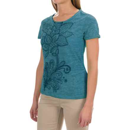 White Sierra Kali Burnout T-Shirt - Short Sleeve (For Women) in Ocean - Closeouts