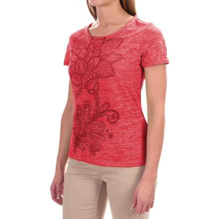 White Sierra Kali Burnout T-Shirt - Short Sleeve (For Women) in Watermelon - Closeouts