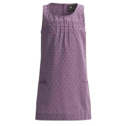 White Sierra Kendall Jumper - Organic Cotton, Sleeveless (For Little and Big Girls) in Grape - Closeouts