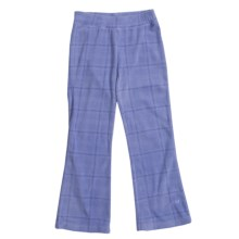 White Sierra Kylie II Fleece Pants (For Girls) in Sapphire Plaid - Closeouts