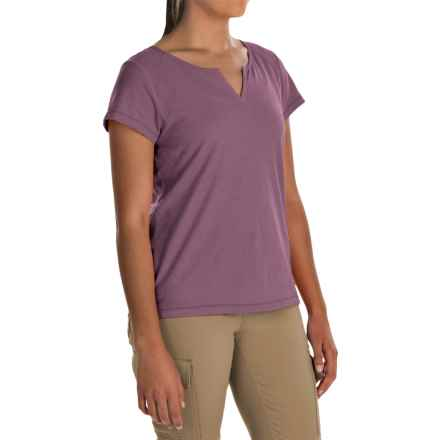 White Sierra Kylie Shirt - Organic Cotton, Short Sleeve (For Women) in Grape - Closeouts