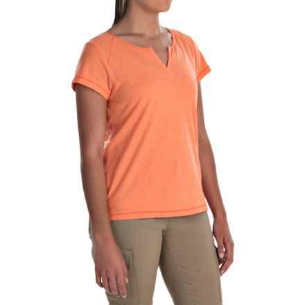 White Sierra Kylie Shirt - Organic Cotton, Short Sleeve (For Women) in Melon - Closeouts