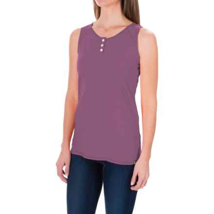 White Sierra Kylie Tank Top - Organic Cotton-Hemp (For Women) in Grape - Closeouts