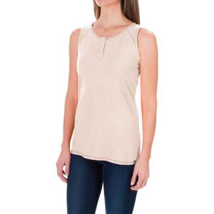 White Sierra Kylie Tank Top - Organic Cotton-Hemp (For Women) in White Alyssum - Closeouts