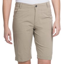White Sierra Lakeport Bermuda Shorts (For Women) in Stone - Closeouts