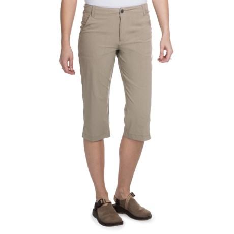 White Sierra Lakeport Skimmer Shorts (For Women) in Stone
