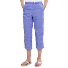 White Sierra Lihue Capris (For Women) in Deep Periwinkle - Closeouts